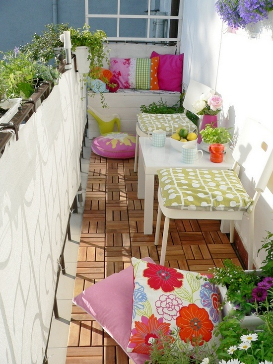 colorful outside furnitures