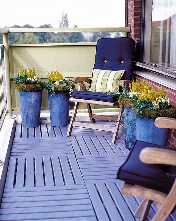 decoration ideas for outside blue furnitures