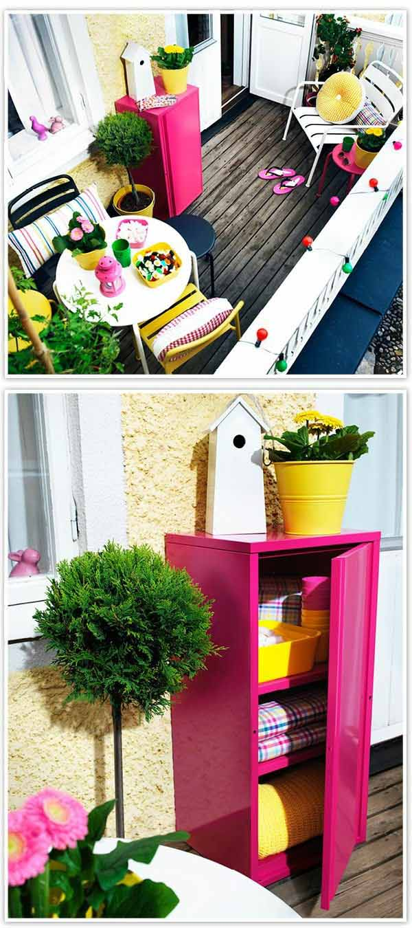 fresh ideas for a small balcony