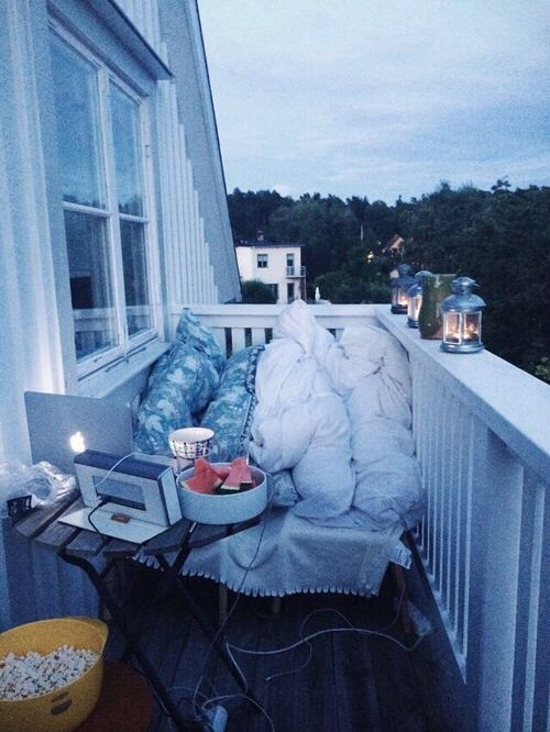 great cozy place for outside movies