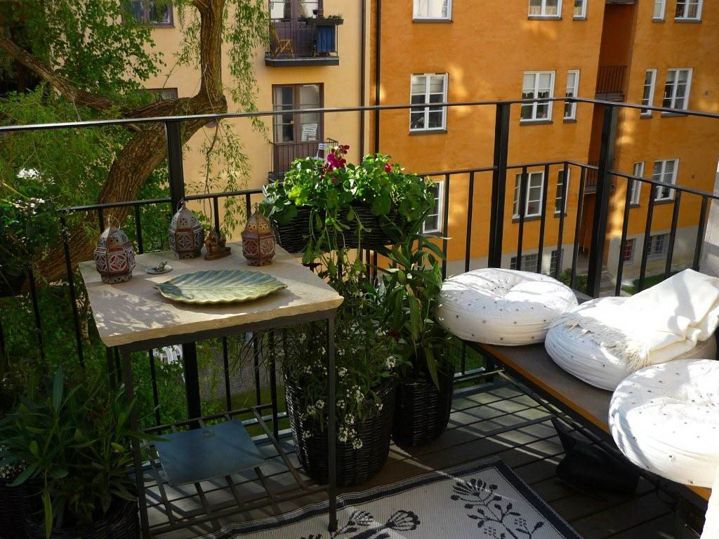 small balcony designed furnitures