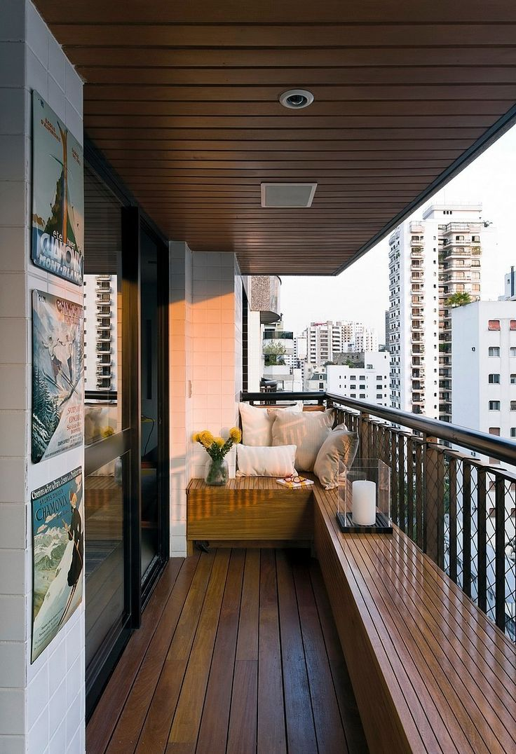 wooden balcony decorations and furnitures