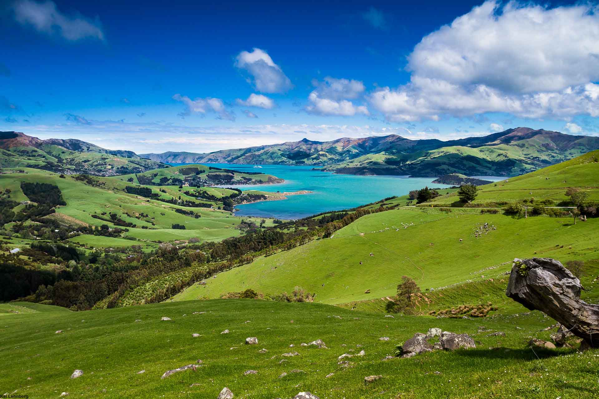 Akaroa Harbour Banks-Peninsula-New-Zealand