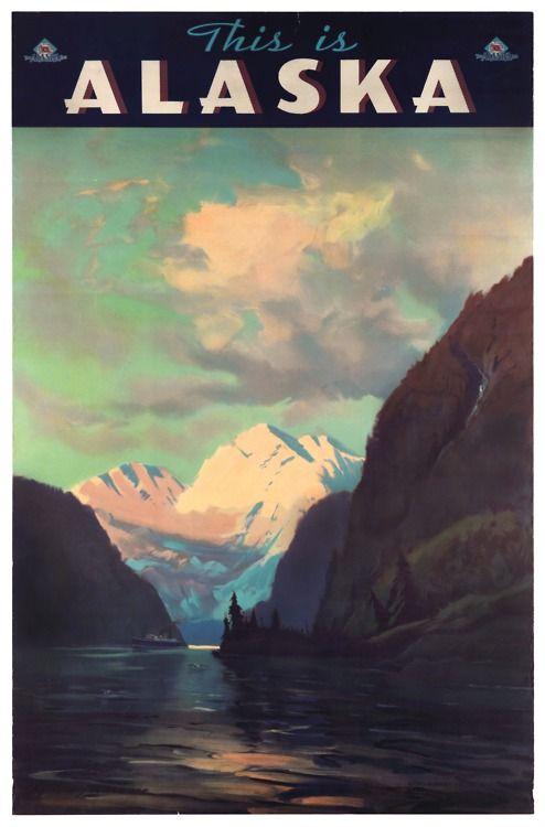 Alaska retro post card