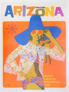 Arizona retro postcard