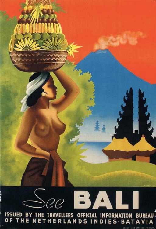 Bali retro post card