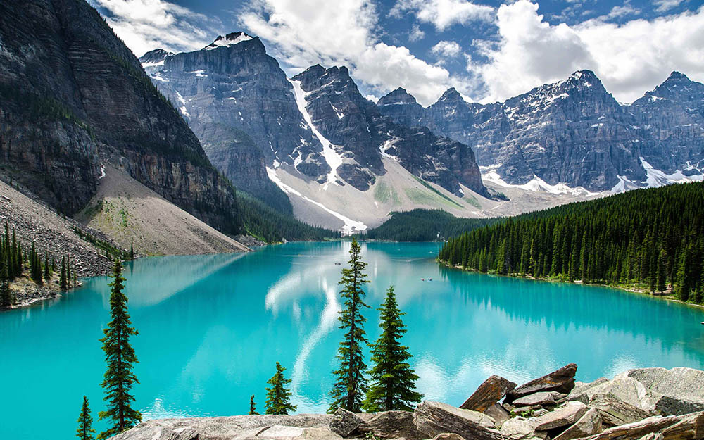 Canada-mountains-and-lakes world most peaceful countries