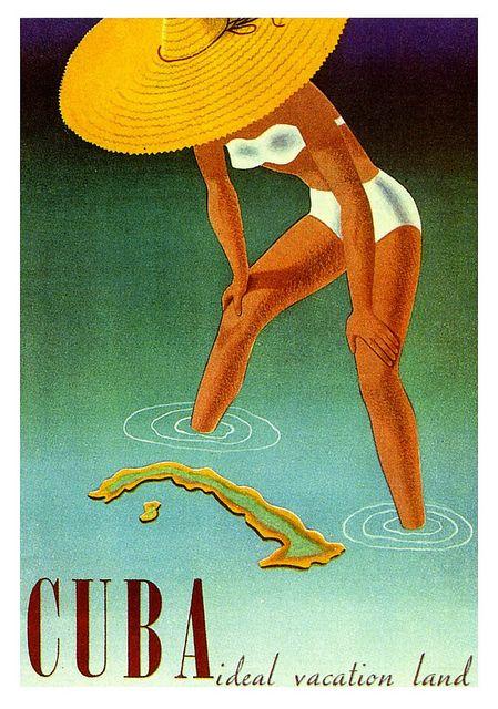 Cuba retro postcard