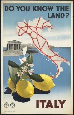Italy retro post card
