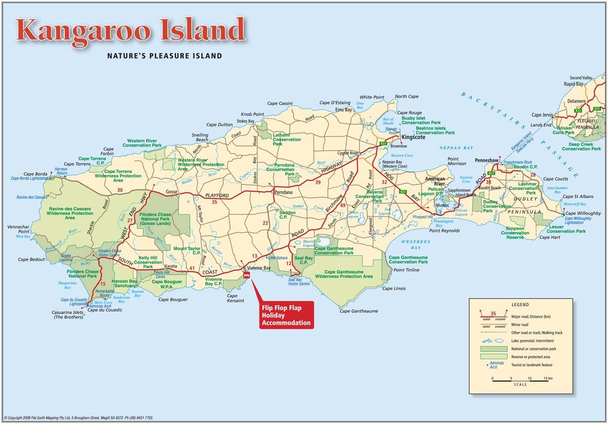 Kangaroo island map australia