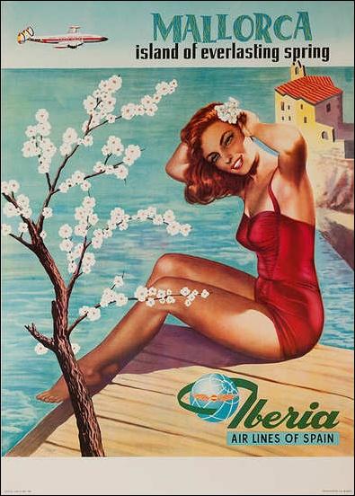 Mallorca retro post card