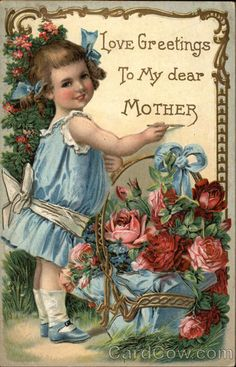 Mothers day retro post card