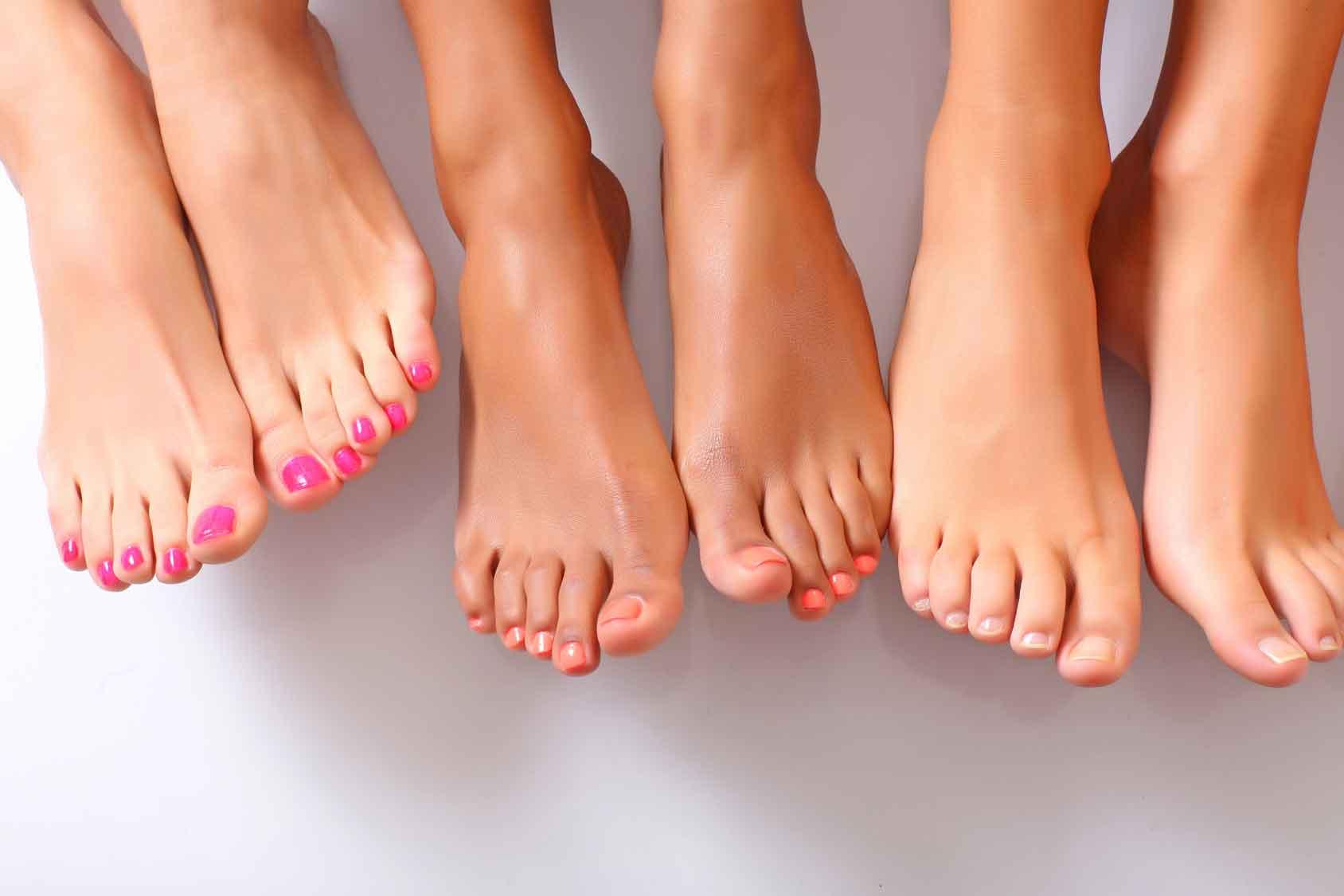 Nail-fungus-treatment-three-women-bare-foots