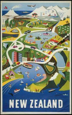 New Zealand retro post card