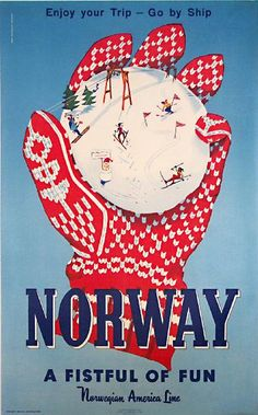 Norway retro post card