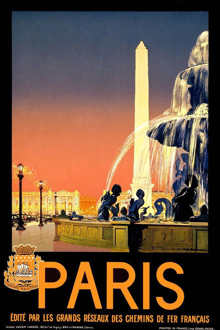 Paris retro post card