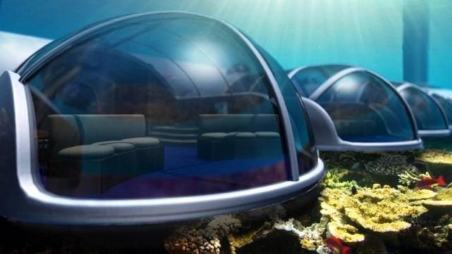 Poseidon underwater resort, Fiji bed cabins