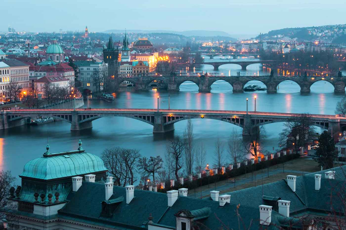 Prague-Czech-republic-landscape-from-air-bridges