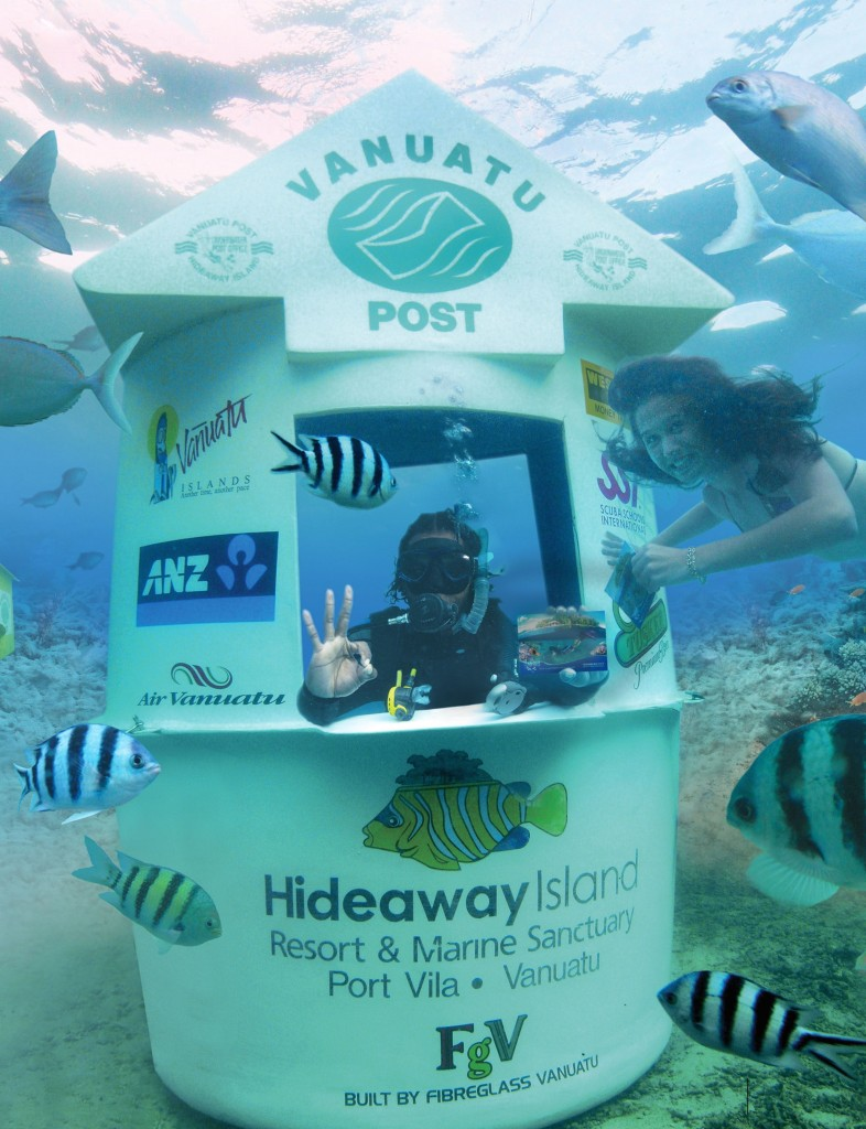 Underwater post office in Vanuatu post office