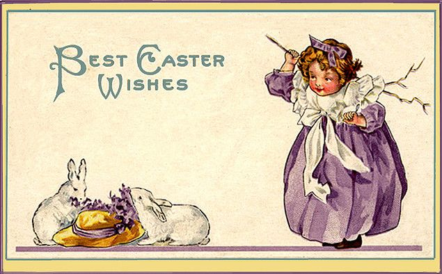 best caster wishes retro post card
