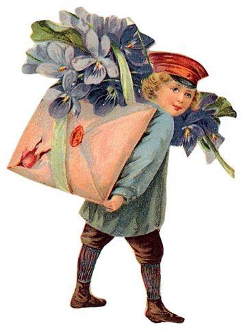 retro love post card