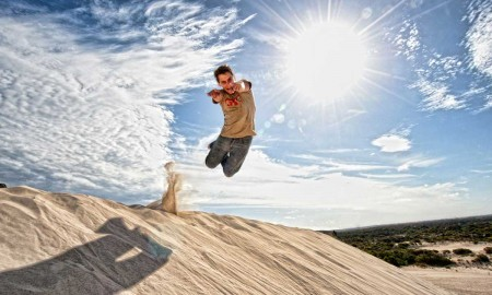the-kangaroo-island-man-jumping-high-in-the-beach