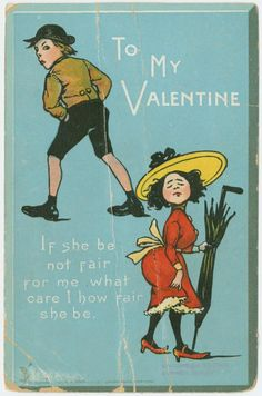 to my Valentine retro post card