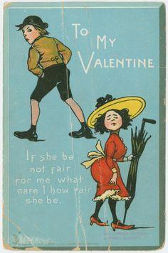 to my Valentine retro post card