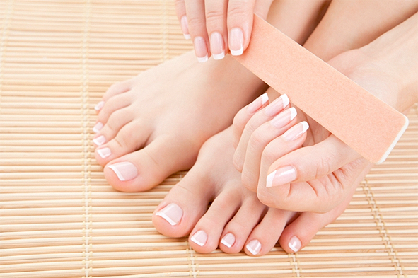 toes and nails woman manicure