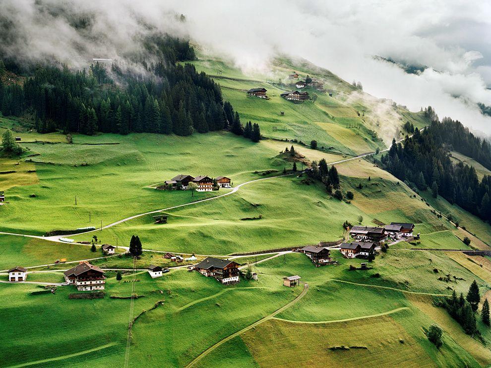 village-tyrol-austria amazing landscape