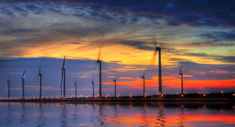 Renewable Energy sunset