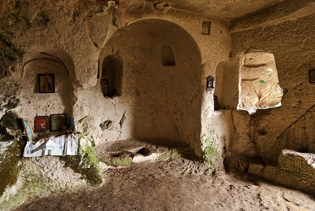 The eye, Osmar village, Shumen inside the rock monastery Bulgaria