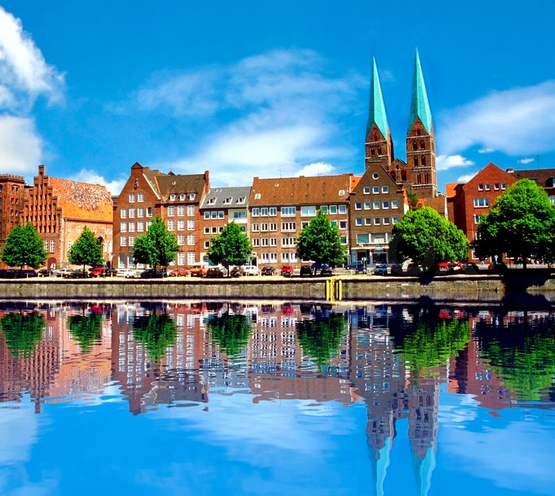 old-town-of-Lübeck-on-the-river-trave-germany