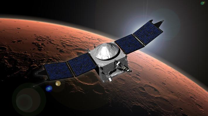 Interplanetary Internet, mars, cosmos, open space, galaxy, men on mars