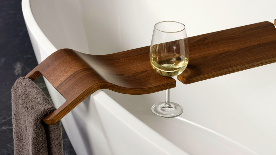 bath towel holder glass holder contemporary wooden bath. Bath Caddy  Rack And Tray Ideas   PRE TEND Be curious