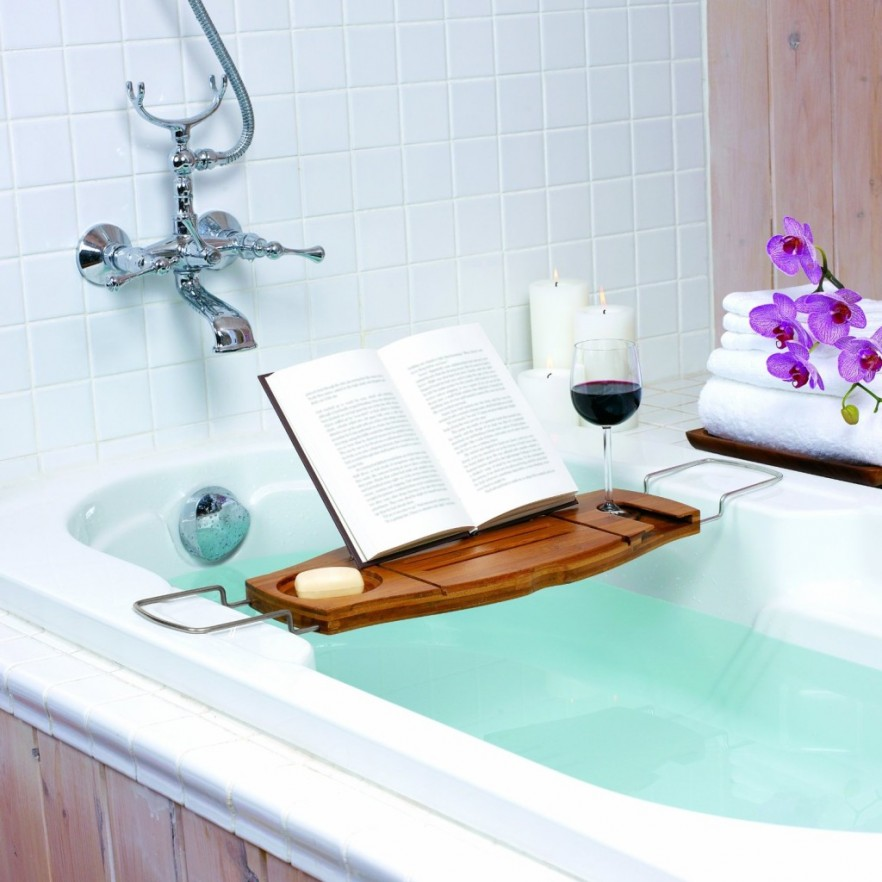 bathtub-tiles-bath-bridge-letter-holder-glass-holder-soap-holder-metal-wood