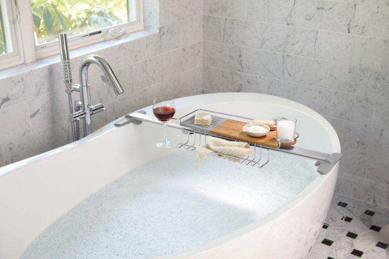 bathtub-tiles-contemporary-metal-bathtub-shelf