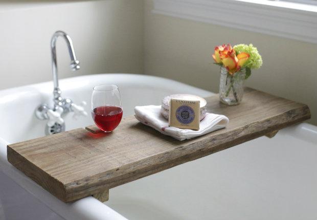 solid-wood-bath-tray flowers holder