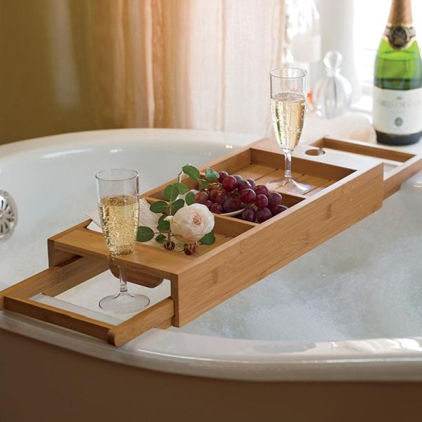 wooden-bath-tub wine and fruits holder