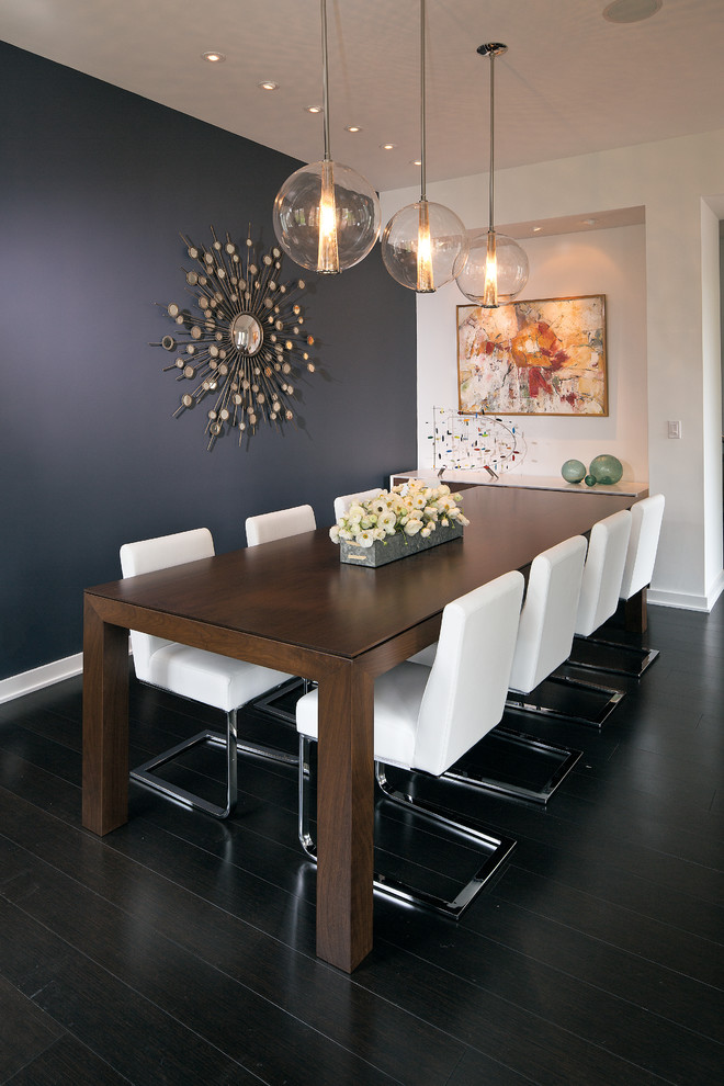 Dining Room Accent Wall Color Ideas 9 In Black With Zeitgenossichem
