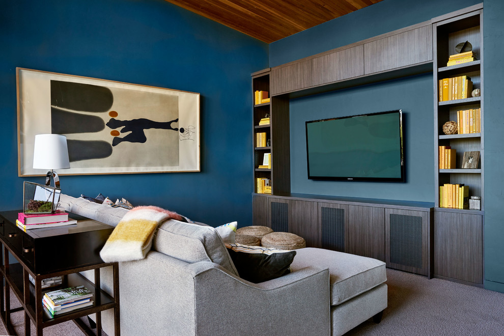Living room blue-wall-color-tv-cabinet-sofa-system-living-room-setup-ideas