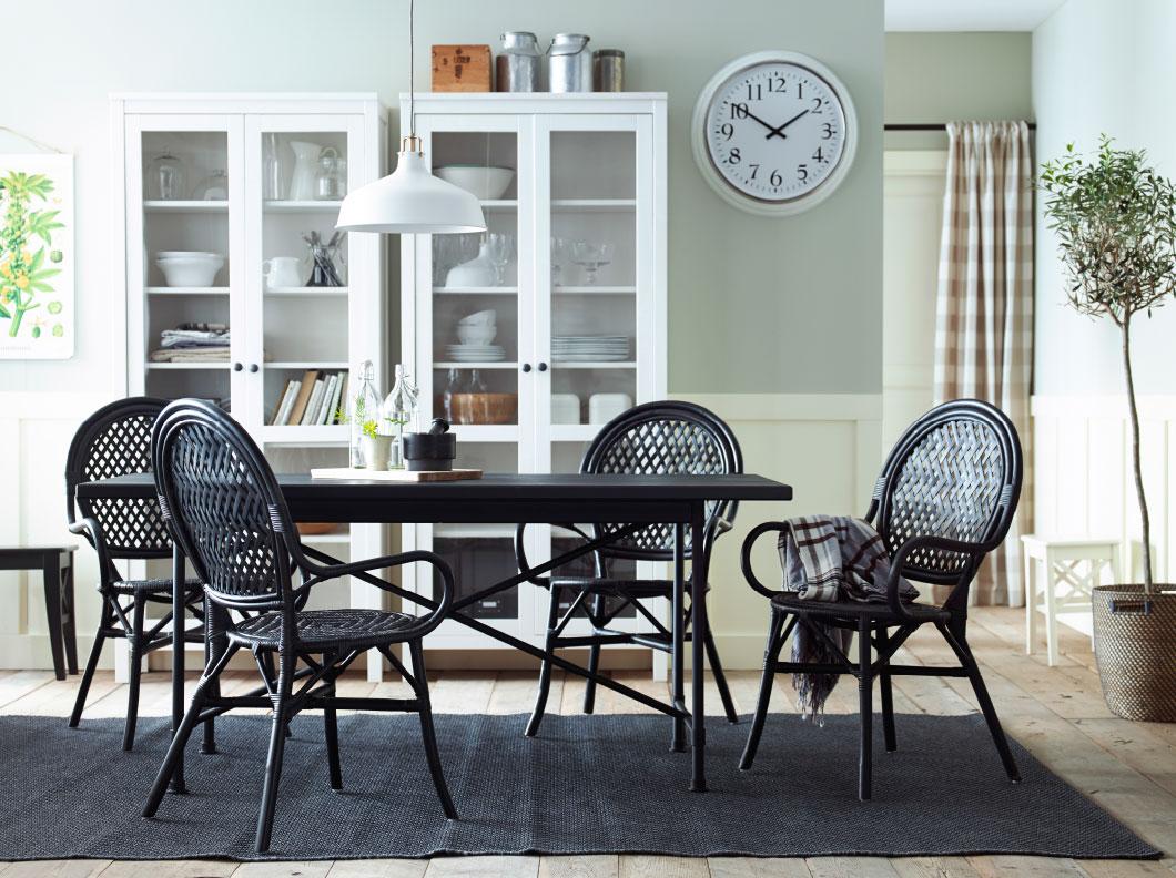 carpet-dining-room-modern-kilim-rug-ikea-dining-room-design