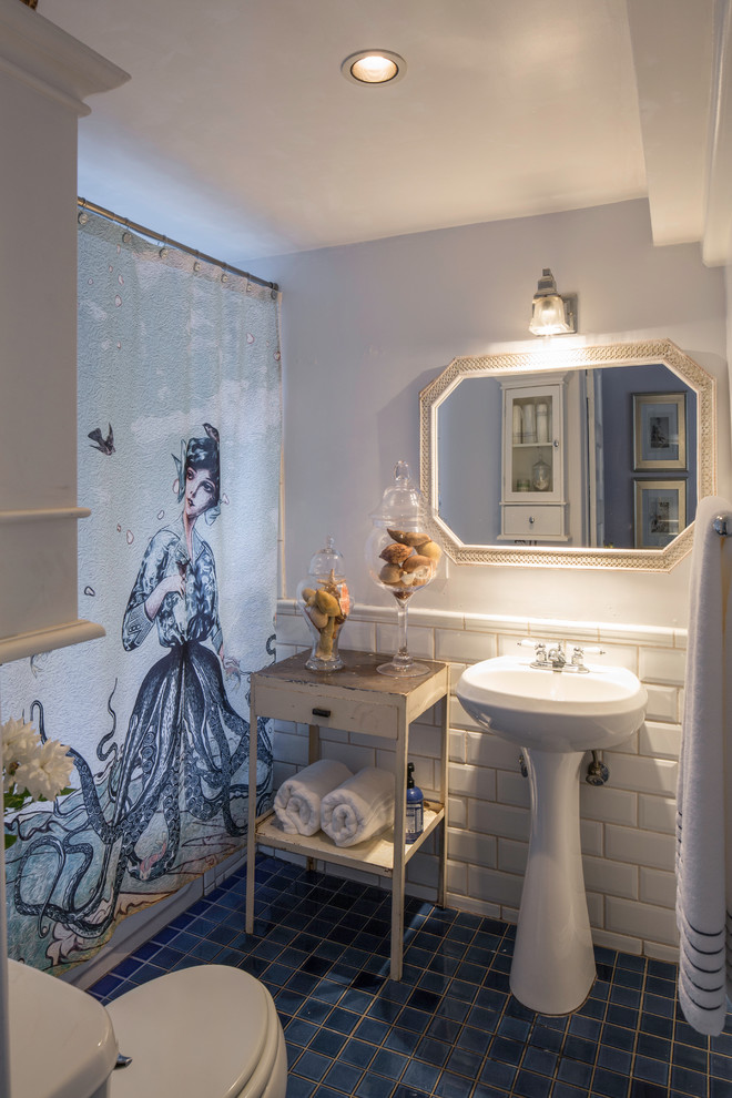 Designer Shower Curtain Ideas decorate your bathroom inside an intriquing creative way by choosing unusual designer shower curtains look out for original and unusual ideas to the shower Designer Shower Curtain In The Eclectic Bathroom Shower