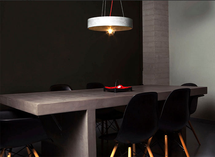 dining-room-dining-table-chairs-table-pendant-lighting-modern-black-white-red-decoration-of-concrete