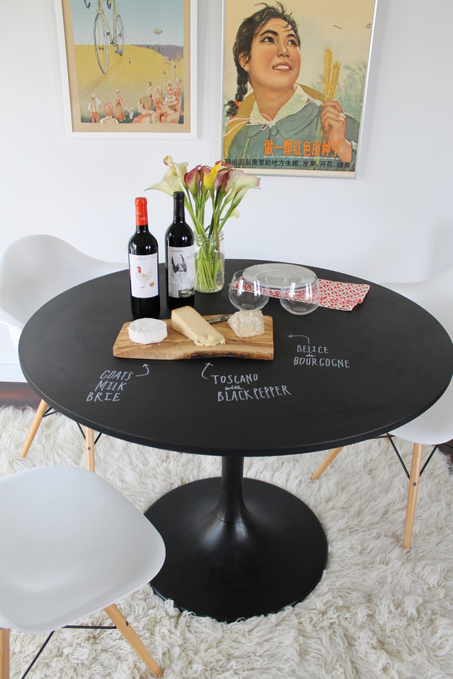 dining-table-round-table-dining-room-black-chalkboard-paint-chalkboard-wall