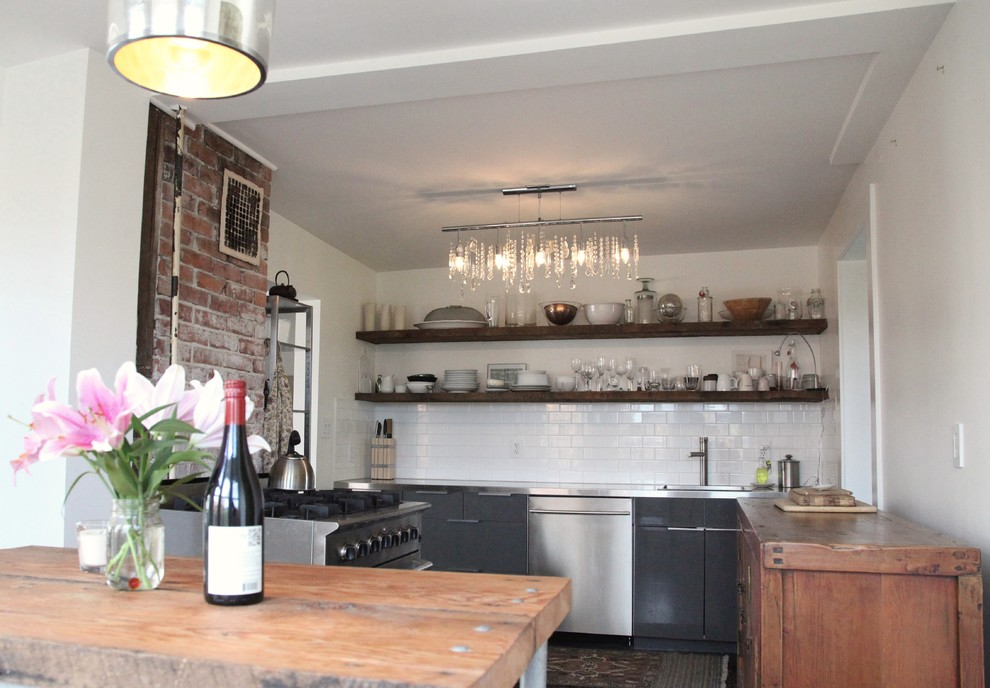eclectic-kitchen-with-rustic-elements-eclectic-apartment-vintage-rustic