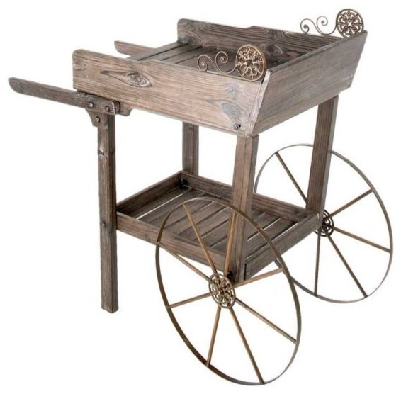 garden-cart-from-wooden-garden-decoration