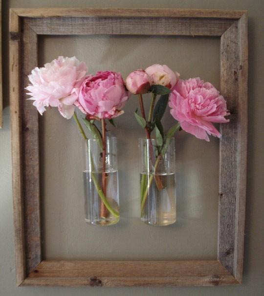glass-vases-in-the-wood-frame-modern-vases-diy-ideas