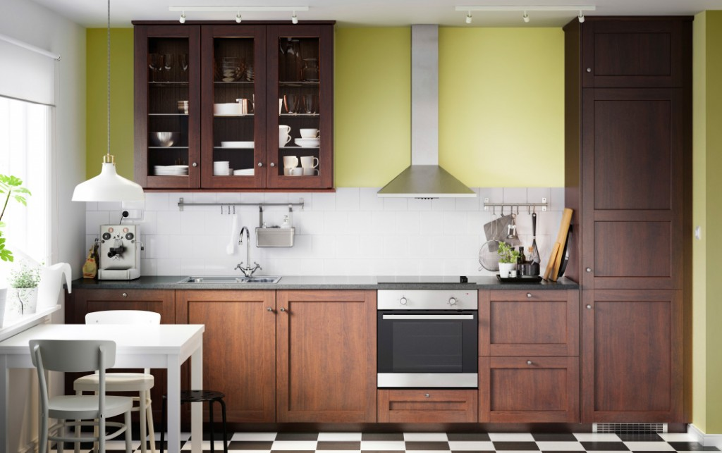 ikea-kitchen-system-in-brown-kitchen-shelves-with-glass-doors