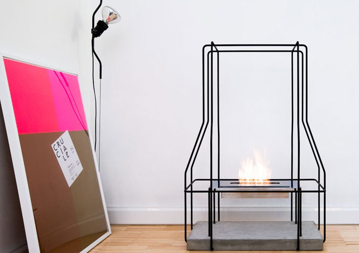 indoor-fireplace-metal-modern-art-picture-lamp-decoration-concrete